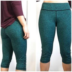 Lululemon Workout Gym Cropped Leggings Teal size 8